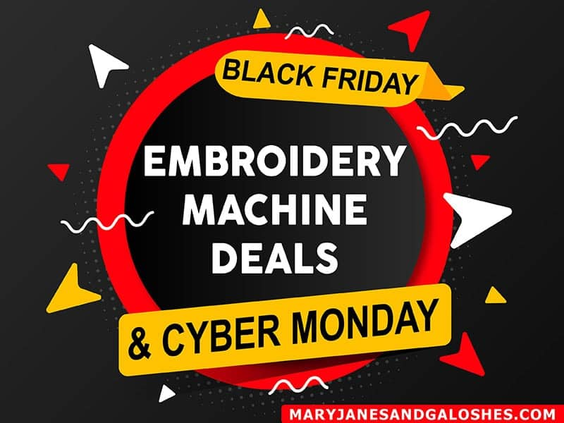 friday embroidery black machine sale