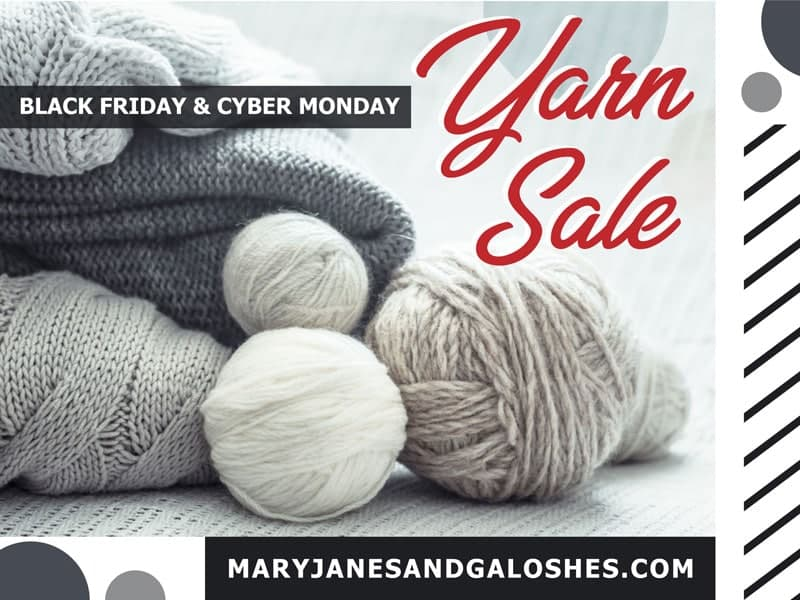 Yarn Sale Black Friday and Cyber Monday